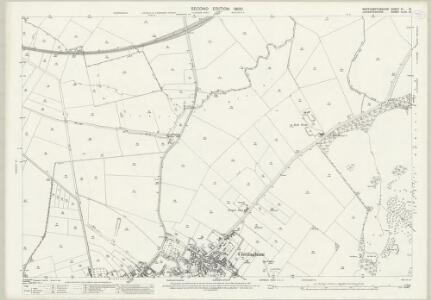 Northamptonshire XI.13 (includes: Bringhurst; Cottingham; Middleton; Rockingham) - 25 Inch Map