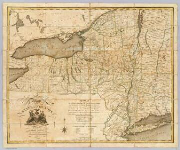 A Map of the State Of New York.
