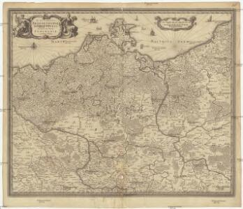 Electoratus Brandenburgi, Mekelenburgi, et maximae partis Pomeraniae novissima tabula