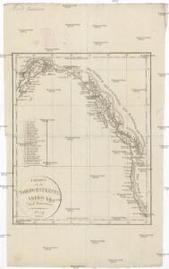 Charte von der Nordwestküste Americas nach Vancouver