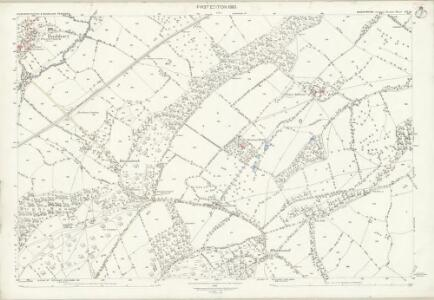 Shropshire LVI.16 (includes: Eaton Under Haywood; Munslow; Rushbury) - 25 Inch Map