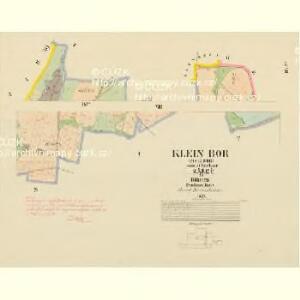 Klein Bor (Maljbor) - c4449-1-006 - Kaiserpflichtexemplar der Landkarten des stabilen Katasters