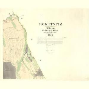 Roketnitz - m2593-1-004 - Kaiserpflichtexemplar der Landkarten des stabilen Katasters