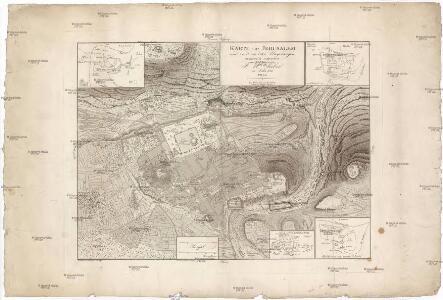 Karte von Jerusalem und seiner naechsten Umgebungen