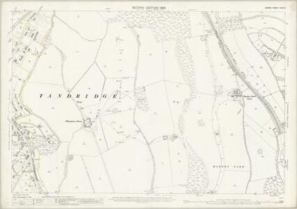 Surrey XXVII.3 (includes: Caterham; Woldingham) - 25 Inch Map