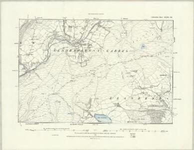 Radnorshire XXIX.NE - OS Six-Inch Map