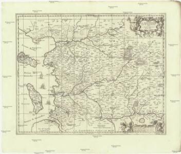 La Saintonge uers le septentrion auecq le pays d'Aulnis et les isles de Ré et Oleron