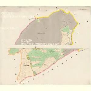 Alt und Neu Paschnitz(St.a Now.Pašešnice - c5641-1-001 - Kaiserpflichtexemplar der Landkarten des stabilen Katasters