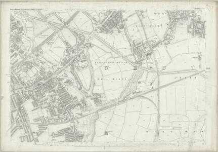 London (First Editions c1850s) XXIX (includes: Poplar Borough; West Ham) - 25 Inch Map
