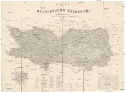 Karte des Herzogthums Kaernten