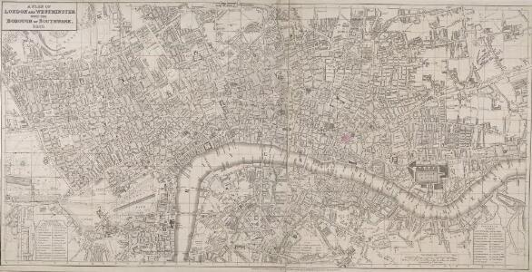 A NEW PLAN OF LONDON AND WESTMINSTER WITH THE BOROUGH OF SOUTHWARK 218