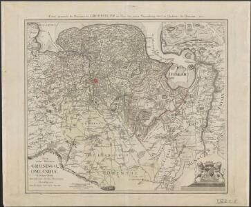 Nova totius provinciae Groningo-Omlandiae in Belgio tabula