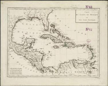 Carte du Golfe du Mexique et des Isles Antilles