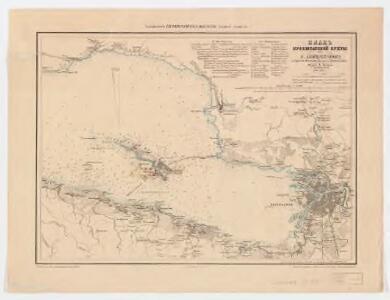 <Plan Kronshtatskoĭ bukhty s S. Peterburgom : i beregami Finskago zaliva do Krasnoi Gorki>