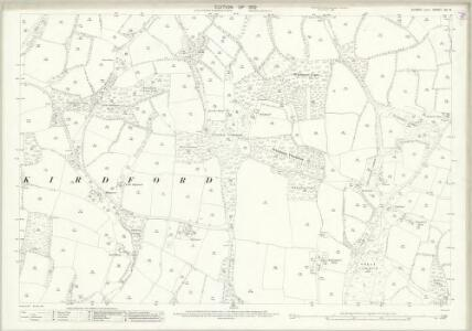 Sussex XII.13 (includes: Kirdford) - 25 Inch Map