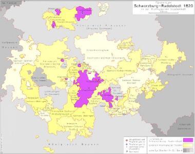 Fürstentum Schwarzburg-Rudolstadt 1820 in der thüringischen Staatenwelt