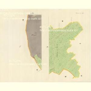 Horniemtsch - m0805-1-010 - Kaiserpflichtexemplar der Landkarten des stabilen Katasters