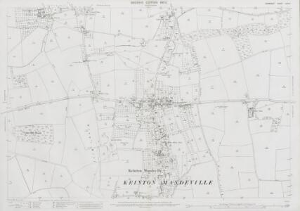 Somerset LXIV.9 (includes: Barton St David; Keinton Mandeville; Kingweston; Lydford) - 25 Inch Map