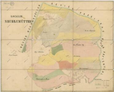 Hospodářské mapa lesního oddělení Novosedlské Hutě