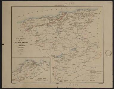 Carte des étapes de la province d'Alger