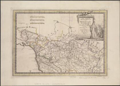 La parte settentrionale del Gran Ducato di Toscana, che comprehendo porzioni dello Stato Florentino e del Territorio Pisano con la Republica di Lucca