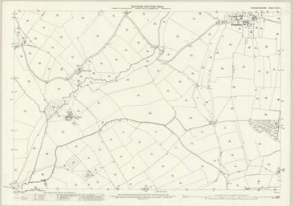 Worcestershire XXXV.3 (includes: Abbots Morton; Inkberrow; Rous Lench) - 25 Inch Map