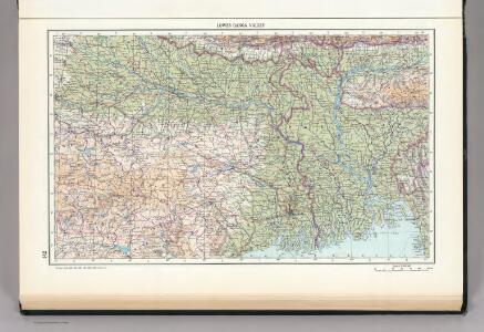 142.  Lower Ganga (Ganges) Valley.  The World Atlas.