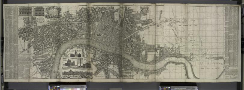 London surveyed or a new map of the cities of London and Westminster and the borough of Southwark. ...