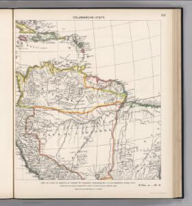 Facsimile:  Part of South America by De Vaugondy.