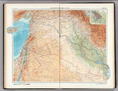 149-150.  East Mediterranean Lands and Iraq.  Baghdad.  The World Atlas.