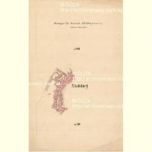 Nikolsburg - m1785-1-002 - Kaiserpflichtexemplar der Landkarten des stabilen Katasters