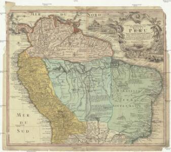 Tabula Americae specialis geographica Regni Peru, Brasiliae, Terrae firme, & reg. Amazonum