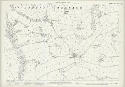 Cornwall LXXXI.1 (includes: Manaccan; Mawgan in Meneage; St Keverne; St Martin in Meneage) - 25 Inch Map
