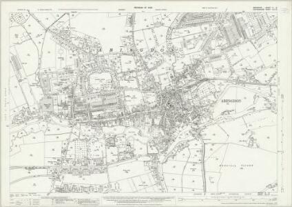 Berkshire X.6 (includes: Abingdon; Abingdon St Helen Without; Culham; Radley) - 25 Inch Map