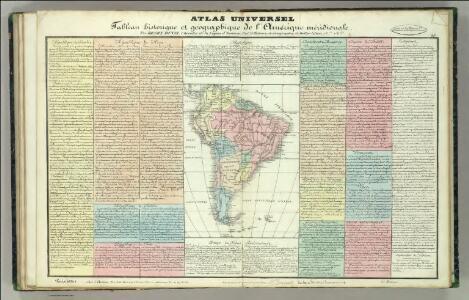 Tableau l'historie de l'Amerique meridionale.