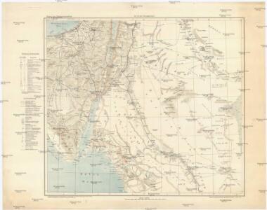 Karte von Nordwestarabien