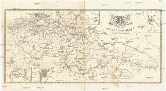 Železniční mapa Republiky Československé