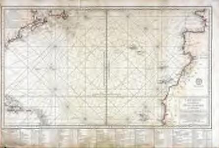 Carte réduite d'une partie de l'ocean Atlantique ou Occidental