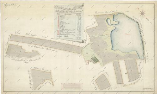 Geometrický plán pozemků dvora Olešník 1