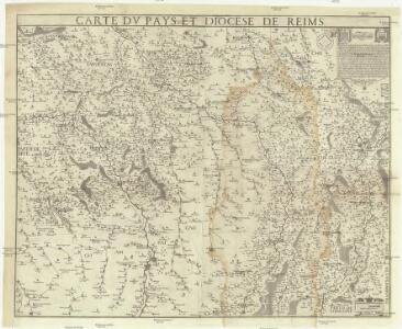 Carte du pays et diocese de Reims