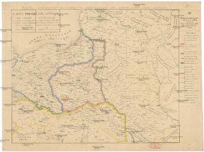Mappa Polski i krajow okolicznych