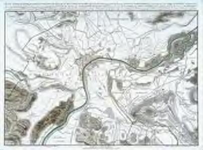 Plan topographique des environs de Basle et du cours du Rhin