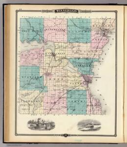 Map of Winnebago County, State of Wisconsin.