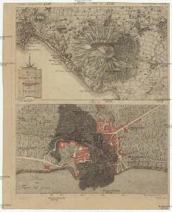 Plan des Bergs Vesuv und der Gegend von Neapel