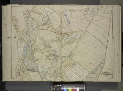 Queens, Vol. 1, Double Page Plate No. 18; Part of     Ward 4; Jamaica; [Map bounded by South St., Country Road, Old Country Road,      Jamaica Plank Road; Including Boundary Line Of City Of New York, Ocean Ave.,     Farmers Ave., Rockaway Turnpike, Th