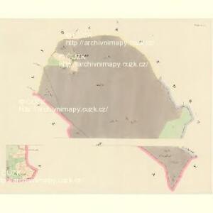 Lettin (Letin) - c3891-1-001 - Kaiserpflichtexemplar der Landkarten des stabilen Katasters