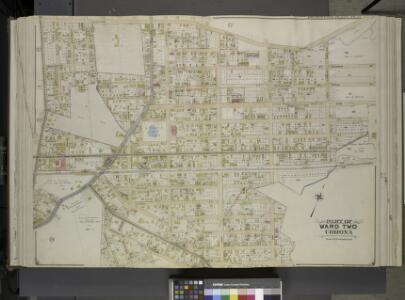 Queens, Vol. 2, Double Page Plate No. 23; Part of     Ward Two Corona; [Map bounded by Flushing Plank Road, Peartree Summit Ave.,      Meadow St., Apple St., Grand Ave. (Roosevelt St.), Lake St., Park St., Rail Road Ave., Willow St., New Ave., Oak St.