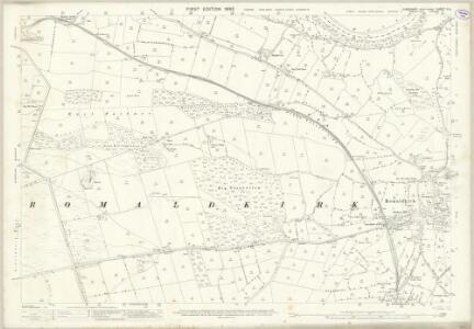 Yorkshire V.5 (includes: Eggleston; Hunderthwaite; Mickleton; Romaldkirk) - 25 Inch Map