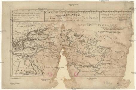 Karte der Eroberungen Grossen Alexanders