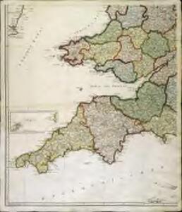 Karte von England und Wallis, 3